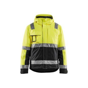 Highvis takki Huomio keltainen/Musta