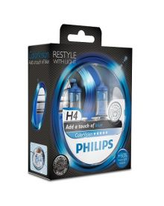 Autolamppu Philips H4 Colorvision Sininen +60%