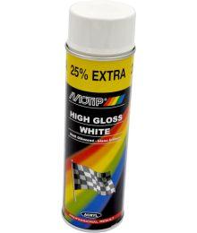Valkoinen Spraymaali 500ml Motip