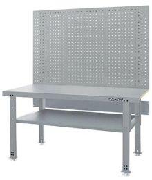 Työpöytä alahyllyllä ja reikälevyllä 1500 mm