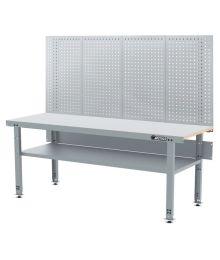 Työpöytä alahyllyllä ja reikälevyllä 2000 mm