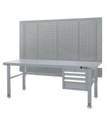 Työpöytä vetolaatikolla ja reikälevyllä 2000 mm