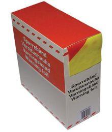 Varoitusnauha 75 mm x 250 m Keltainen / Punainen