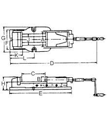 Bernardo FJ 100 Koneruuvipuristin Aukeama 170 mm
