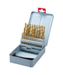 Poranteräsarja 50-os., 1 – 5,9 mm, HSS, Tin-pinnoitettu