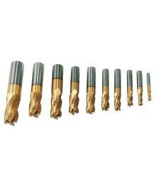 Varsi-/rouhintajyrsinsarja HSS, 6 – 25 mm, 10-osainen
