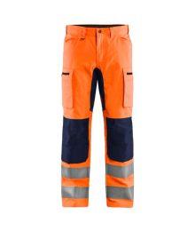 Highvis housut stretch Huomio oranssi/Mariininsininen 158518115389