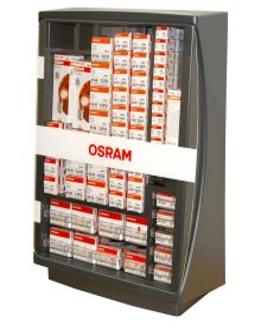 Osram korjaamokaappi 252 polttimoa + lampputesteri