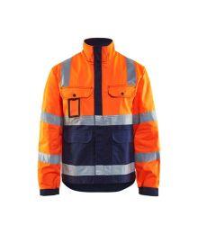Highvis takki Huomio oranssi/Mariininsininen 402318045389 Blåkläder