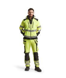 Highvis softshelltakki Huomio keltainen/Musta 449125133399