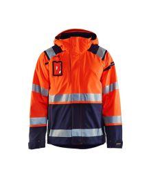 Highvis kuoritakki Huomio oranssi/Mariininsininen 498719875389 Blåkläder