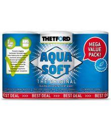 Thetford Aqua Soft WC-paperi kemialliseen vessaan 6 rullaa