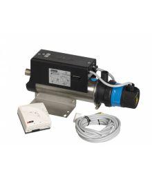 Sähkölämmitin 2100W, pumppu 230V Huonetermostaatti, johto 4m