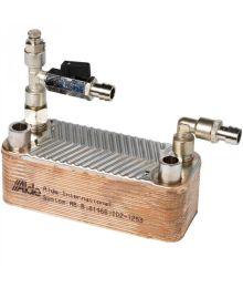 Lämmönvaihdin, ilmausruuvi, sulkuhana Liitokset 22mm ja 16mm Alde