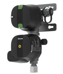 Säädin+ pullonvaihtaja Duocontrol CS 8/10mm, 30mbar, pystysuora Truma