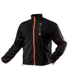 Musta Fleece-Takki Oranssi Vetokejtu