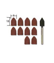 Hiomahuppu & kiinnitysvarsi, Ø 9 mm