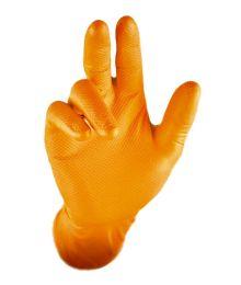 Gripster Grippaz Nitriilikäsineet 50kpl Oranssi, Musta